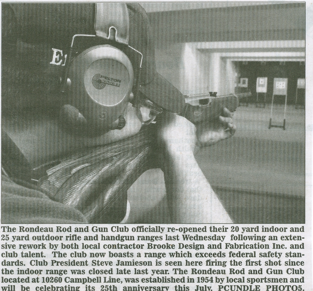 Indoor Range Reopening